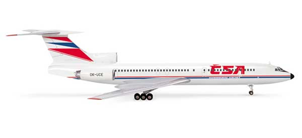 Csa TU154M (1:200), Herpa 1:200 Scale Diecast Airliners Item Number HE554558