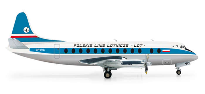 Lot Viscount 800 (1:200), Herpa 1:200 Scale Diecast Airliners Item Number HE554657