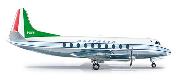 Alitalia Viscount 700 (1:200), Herpa 1:200 Scale Diecast Airliners Item Number HE554732