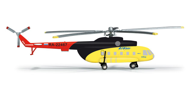 UT Air MI-8 (1:200), Herpa 1:200 Scale Diecast Airliners Item Number HE555227
