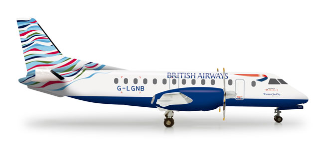"British Airways SF-340 ""Waves of the City"" (1:200), Herpa 1:200 Scale Diecast Airliners Item Number HE555586"