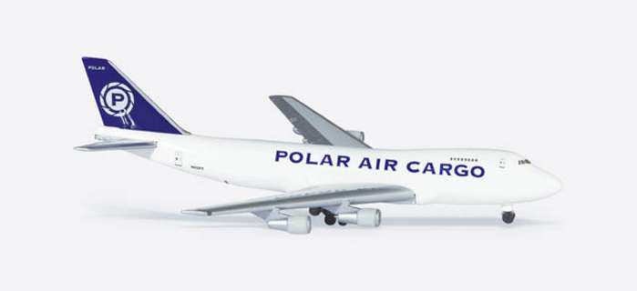 Polar Air Cargo B747-200F (1:500), Herpa 1:500 Scale Diecast Airliners Item Number HE502634