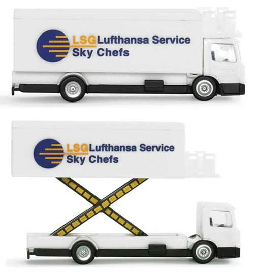 LSG Lufthansa Catering Truck (1:200), Herpa 1:200 Scale Diecast Airliners Item Number HE550987