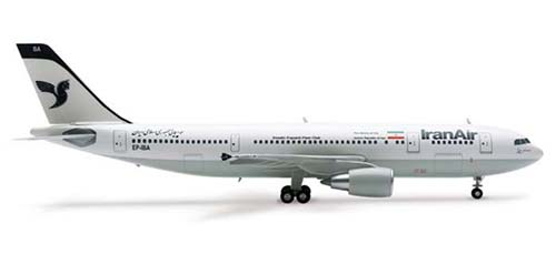 Iran Air A300-600 (1:200), Herpa 1:200 Scale Diecast Airliners Item Number HE551731