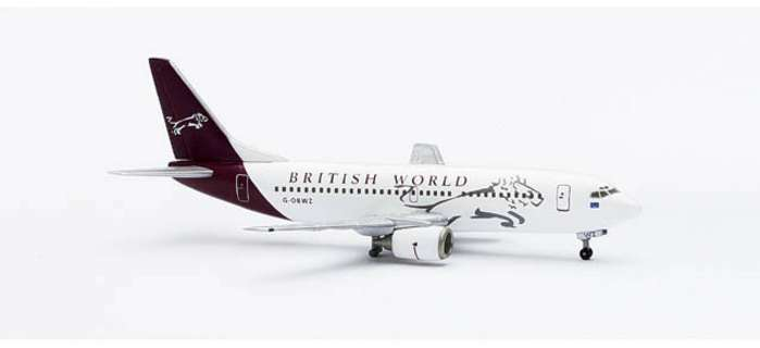 British World B737-300 (1:400), Herpa 1:400 Scale Diecast Airliners Item Number HE560313