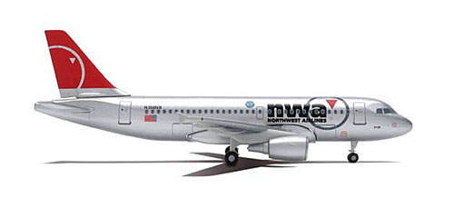 Northwest A319 (New Colors) (1:400)