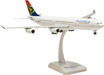 South African A340-300 (1:200) With Gear, Registration: ZS-SXF, Hogan Wings Collectible Airliner Models Item Number HG0656G