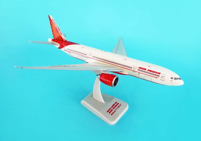 Air India 777-200LR (1:200) W/Gear, Hogan Wings Collectible Airliner Models Item Number HG3930G
