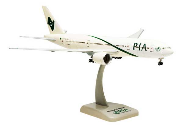 Pakistan 777-200LR W/Gear (1:200), Hogan Wings Collectible Airliner Models Item Number HG3978G