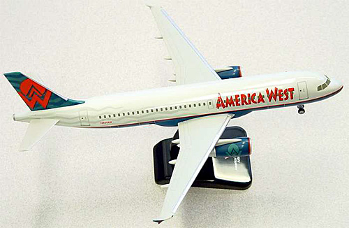 America West A320 (1:200), Hogan Wings Collectible Airliner Models Item Number HG2537G