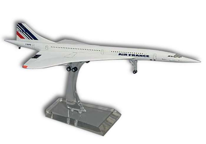 Air France Concorde Tail#F-BVFF (1:200), Hogan Wings Collectible Airliner Models Item Number HG8911FF