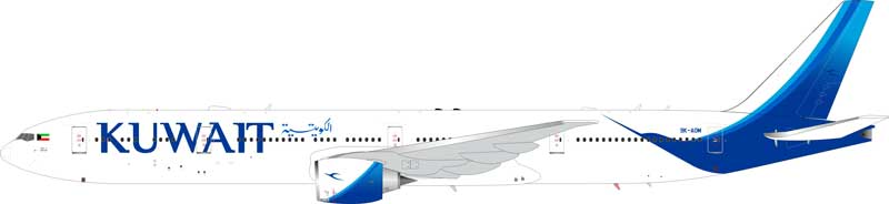Kuwait Airways  Boeing 777-300ER 9K-AOM (1:200) - Preorder item, Order now for future delivery