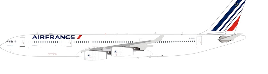 Air France Airbus A340-300 F-GLZJ (1:200) by InFlight 200 Scale Diecast Airliners Item Number B-343-AF-001