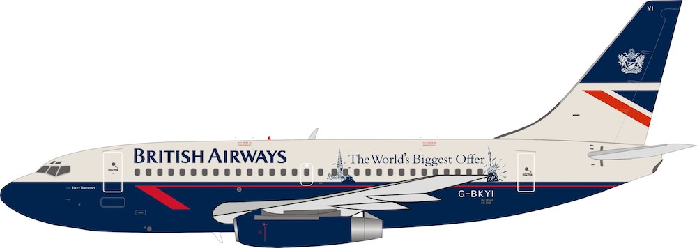 British Airways Boeing 737-200 G-BKYI The Worlds Biggest Offer (1:200)