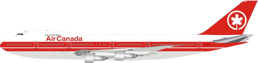 Air Canada Boeing 747-100 C-FTOC (1:200), InFlight 200 Scale Diecast Airliners, B-741-AC-0319