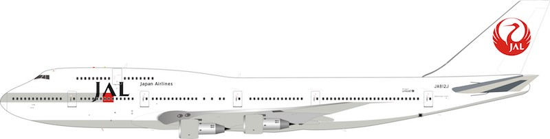 "JAL Boeing 747-300 JA812J ""1990s Colors"" (1:200) - Preorder item, order now for future delivery"