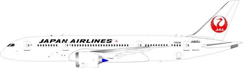JAL Boeing 787-8 Dreamliner JA825J (1:200) - Preorder item, Order now for future delivery