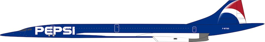 Air France Aerospatiale-British Aerospace Concorde 101 F-BTSD Pepsi (1:200) - Preorder item, order now for future delivery, InFlight 200 Scale Diecast Airliners Item Number B-CONC-001