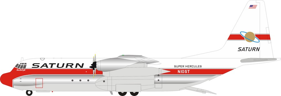 Saturn Airways Lockheed L-100-30 Hercules (L-382G) N10ST (1:200) by InFlight 200 Scale Diecast Airliners