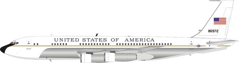 USAF United States Air Force Boeing VC-137B (707-153B) 58-6972 Polished (1:200) - Preorder item, order now for future delivery