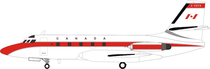 Transport Canada Lockheed L-1329 JetStar 6 C-FDTX (1:200) - Preorder item, order now for future delivery, InFlight 200 Scale Diecast Airliners, Item Number IF1400918