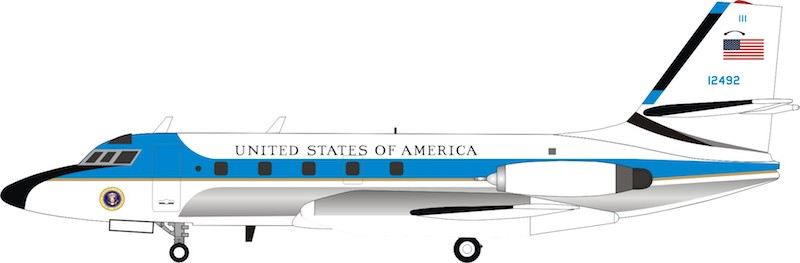 USAF Lockheed VC-140B JetStar (L-1329) 61-2492 (1:200) - Preorder item, order now for future delivery, InFlight 200 Scale Diecast Airliners, Item Number IF140USA0119P