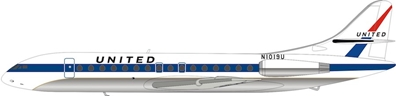 United Airlines Sud SE-210 Caravelle VI-R N1019U With Stand (1:200) by InFlight 200 Scale Diecast Airliners