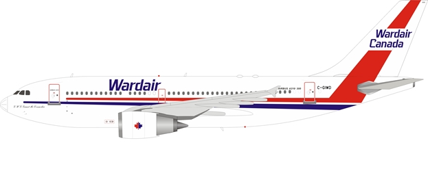 Wardair Canada Airbus A310-304 C-GIWD with stand (1:200)
