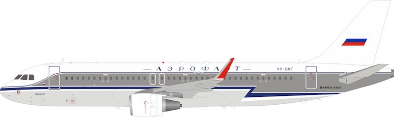Aeroflot - Russian Airlines Airbus A320-214 VP-BNT (1:200)