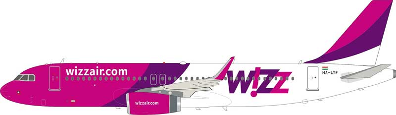 Wizz Air Airbus A320-232 HA-LYF (1:200)