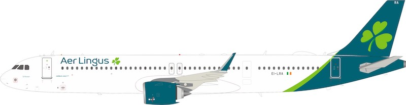 Aer Lingus  Airbus A321-253NX EI-LRA With Stand (1:200) by InFlight 200 Scale Diecast Airliners