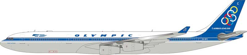 Olympic Airbus A340-300 SX-DFC (1:200) - Preorder item, order now for future delivery, InFlight 200 Scale Diecast Airliners Item Number IF3431116