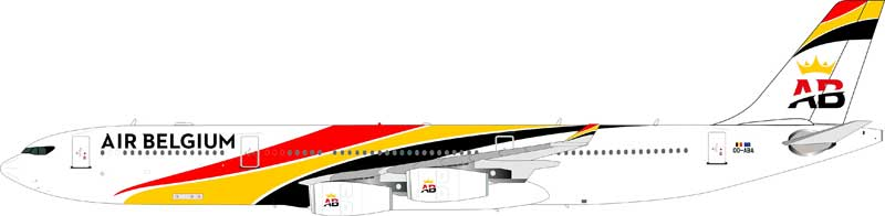 Air Belgium Airbus A340-300 OO-ABA (1:200) - Preorder item, Order now for future delivery