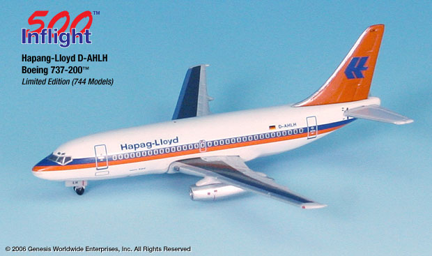 Hapaq-Lloyd 737-200 (1:500), InFlight 500 Scale Diecast Airline models Item Number IF5732001