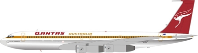 Qantas Boeing 707-338C VH-EBV Polished  (1:200) by InFlight 200 Scale Diecast Airliners