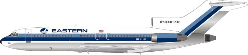 Eastern Air Lines Boeing 727-100 N8111N (1:200) - Preorder item, Order now for future delivery , InFlight 200 Scale Diecast Airliners Item Number IF721EA0918P