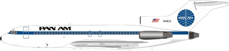 Pan Am Boeing 727-100 N4613 With Stand (1:200) By Inflight Models