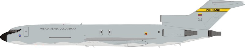 "Colombia Air Force Boeing 727-200 FAC1204 ""Vulcano"" (1:200) - Preorder item, order now for future delivery"