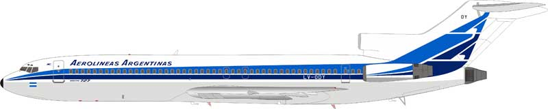 Aerolineas Argentinas LV-ODY Boeing 727-2M7/Adv with stand (1:200)