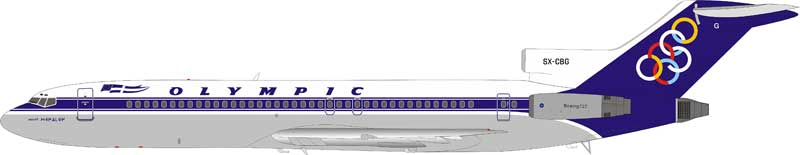 Olympic Boeing 727-230/Adv SX-CBG stand included (1:200)