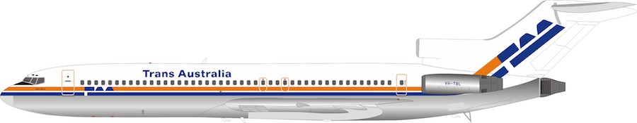 CP Air 737-200, Polished -CF-CPU (1:200), InFlight 200 Scale Diecast Airliners Item Number IF732030