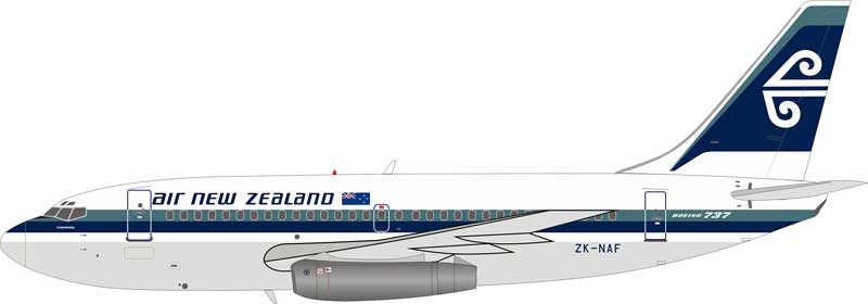 Air New Zealand ZK-NAF Boeing 737-2Y5/Adv with stand (1:200)