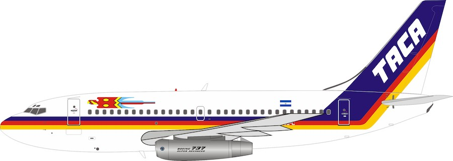 TACA Boeing 737-200  YS-08C With Stand (1:200) by InFlight 200 Scale Diecast Airliners