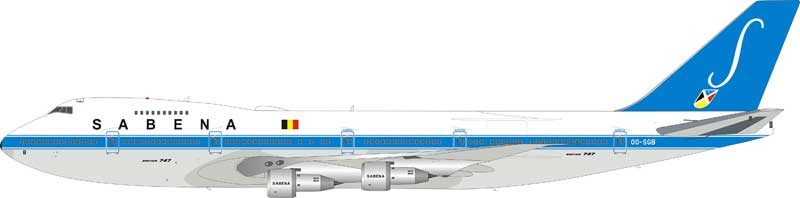 Sabena Boeing 747-100 OO-SGB (1:200), InFlight 200 Scale Diecast Airliners Item Number IF7410716