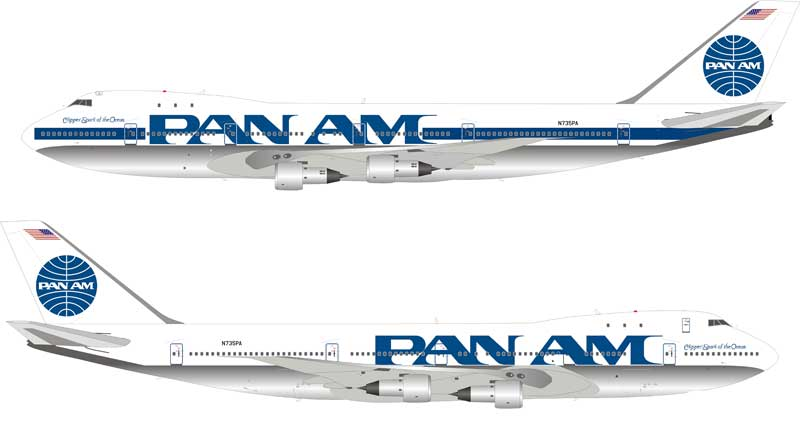"Pan American World Airways, Pan Am 747-121 N735PA ""Clipper Spark of the Ocean"" (1:200)  - Preorder item, order now for future delivery , InFlight 200 Scale Diecast Airliners, Item Number IF741PAA0918"