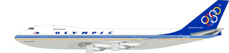 "Olympic Boeing 747-200  SX-OAC ""Olympic Spirit"" (1:200)-SECOND, InFlight 200 Scale Diecast Airliners Item Number IF7420216-SECOND"