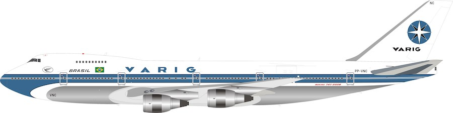 Varig Boeing 747-200 PP-VNC Polished 100 MODELS MADE (1:200)