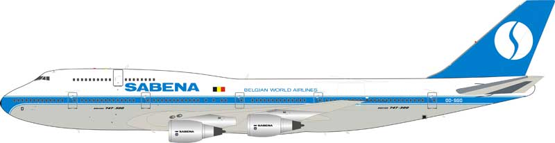 Sabena Boeing 747-300 OO-SGD (1:200) -  , InFlight 200 Scale Diecast Airliners Item Number IF743SN1018