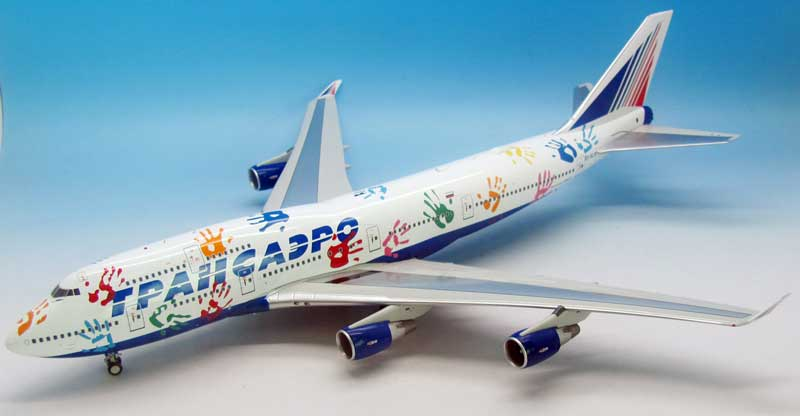 "Transaero Airlines Boeing 747-412 EI-XLK (1:200) ""Flight of Hope"", InFlight 200 Scale Diecast Airliners Item Number IF744UN002"