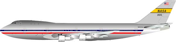 NASA Boeing 747 N905NA (1:200), Polished - Preorder item, order now for future delivery